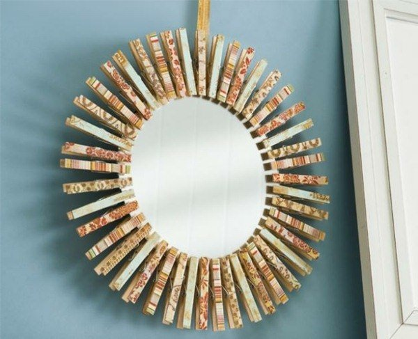 diy clothespin crafts wreath hanging decoration for wall
