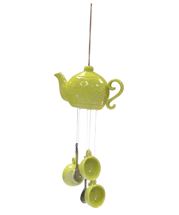 diy wind chime creative homemade idea tea pot upcycling