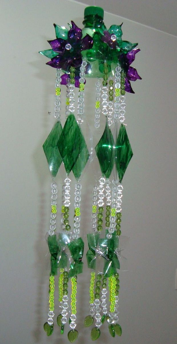 recycling plastic bottles into diy wind chime decorating ideas