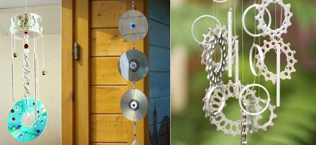 upcycling old cds into wind chime garden diy crafts decorating ideas