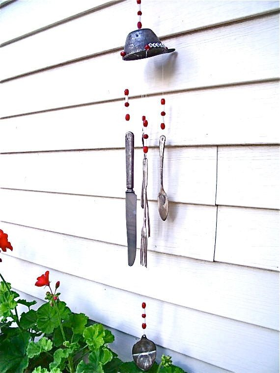 wind chime crafts from old knife fork spoon creative garden decoration ideas
