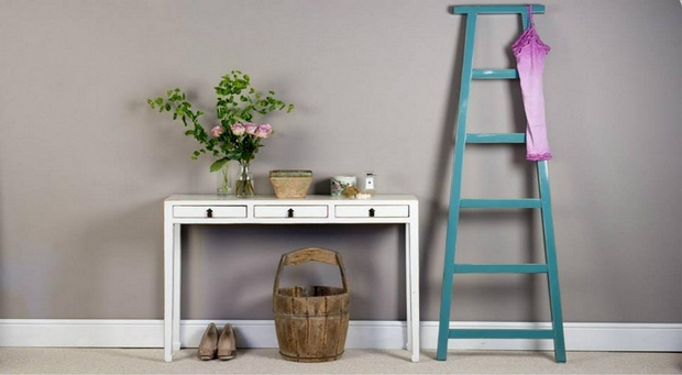 reused upcycled ladder shelves as home art bedroom decoration repurposing ideas