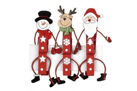 christmas ornaments with clothespins decorated snowman deer diy easy idea