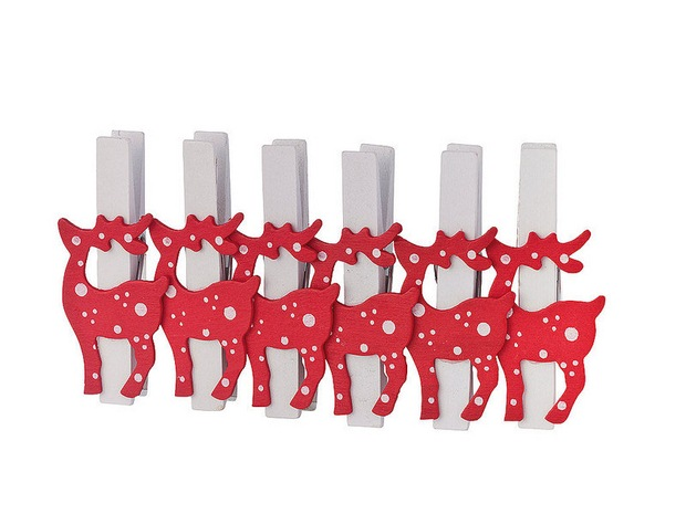 christmas ornaments with clothespins reindeers tree decorating ideas