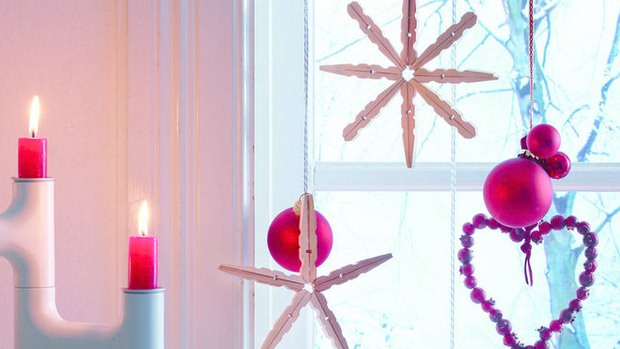 christmas ornaments clothespins stars diy home decoration