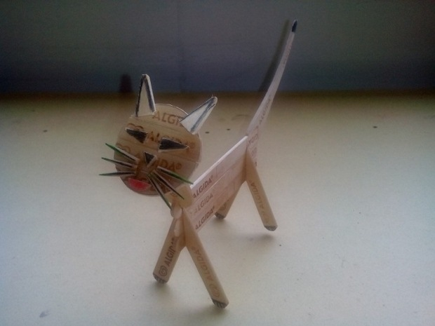 diy handmade cat popsicle sticks crafts for kids