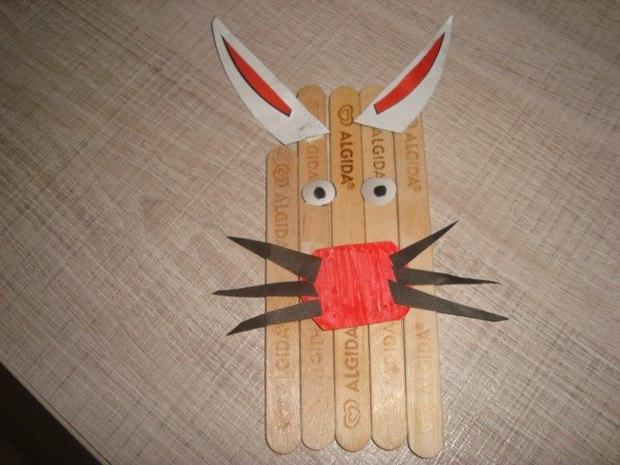 popsicle sticks animal shaped crafts for kids decoration