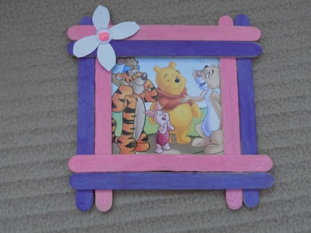 popsicle sticks crafts picture frame diy home decoration
