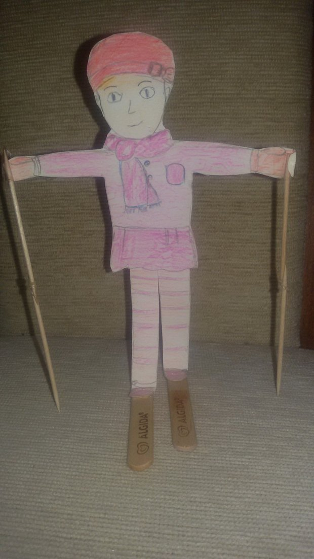 upcycled popsicle stick as snowman creative diy idea