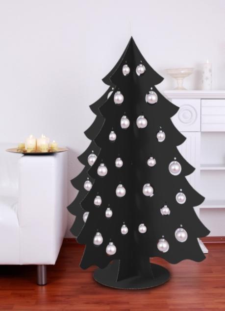 alternative christmas black tree cardboard christmas toys recycled idea