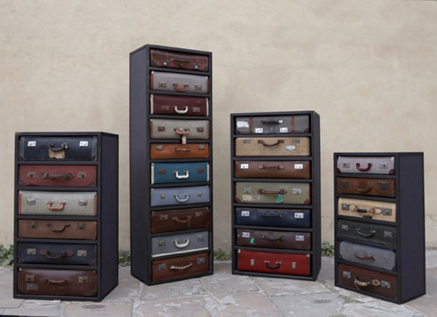 Reuse Old Suitcases Black Cabinet Diy Storage Furniture Ideas