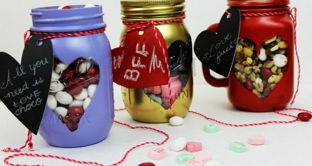 Valentine S Day Crafts 12 Glass Jar Decorations And Gifts