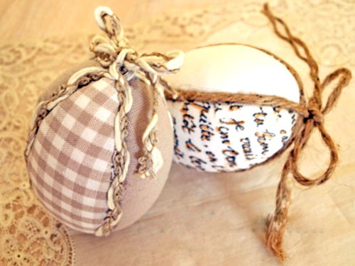 easter egg decorating ideas diy fabric ribbons table centerpieces crafts