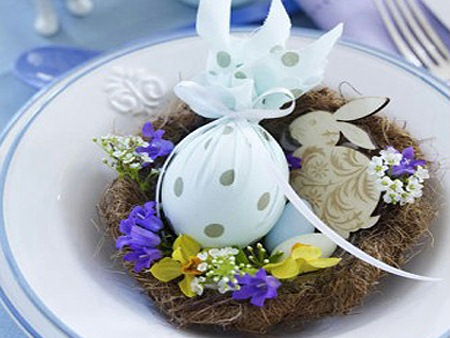 easter egg decorating ideas using recycled fabric table creative centerpiece decor