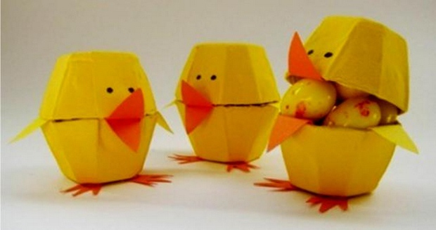 easter eggs decorating ideas using yellow egg cartoon diy chicks project