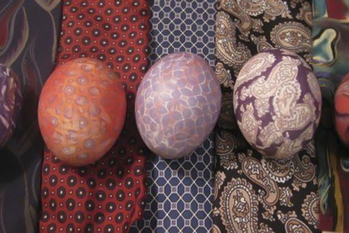 silk tie dyed easter egg decorating ideas diy creative projects