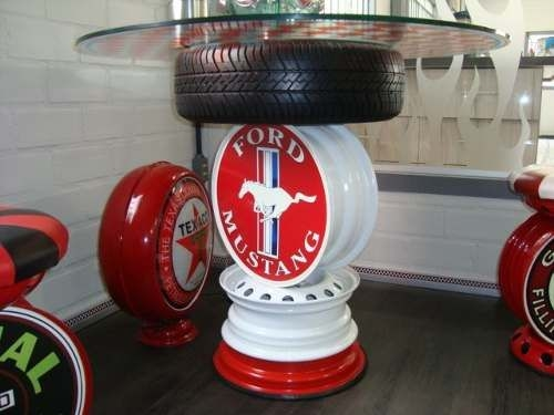 reused car rims tire wheel glass top table amazing decor idea