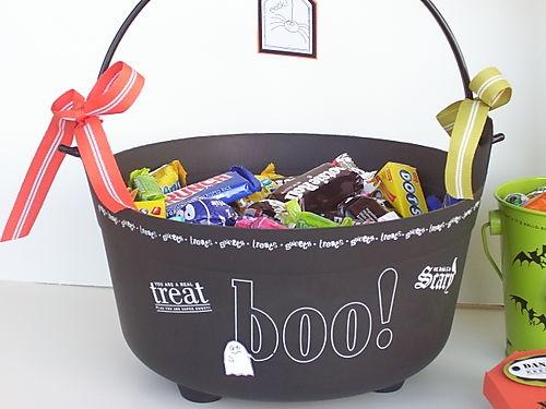 halloween goody bag idea treat black candy box home decor