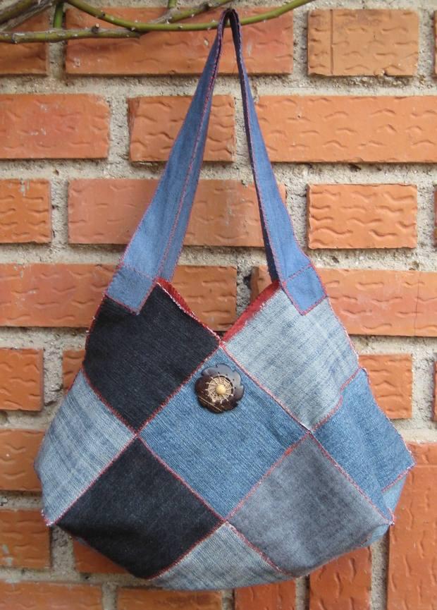 repurpose old jeans handmade women purse amazing craft idea