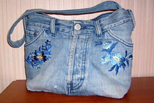 reuse old jeans women purse diy upcycling project