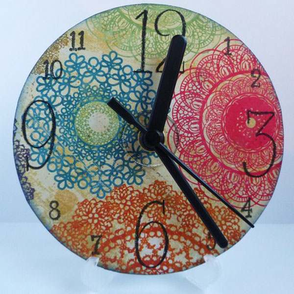 Cd Crafts Colorful Clock Creative Small Beautiful Wall Mounted
