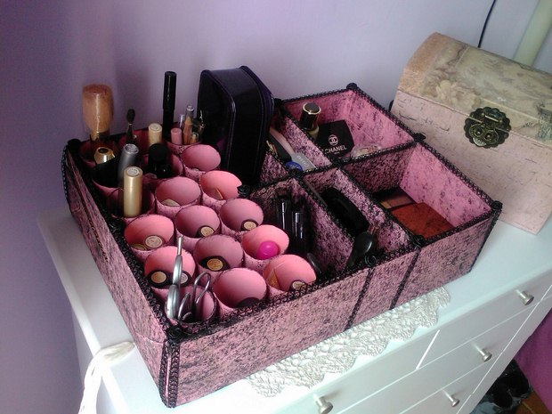 reuse shoeboxes makeup box organizer diy woman accessories amazing idea