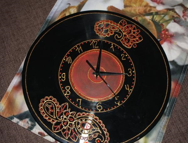 recycling vinyl records diy analog clock creative household item