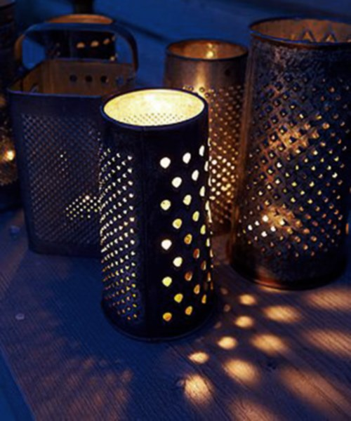 reused cheese grater vintage old diy lamp easy idea