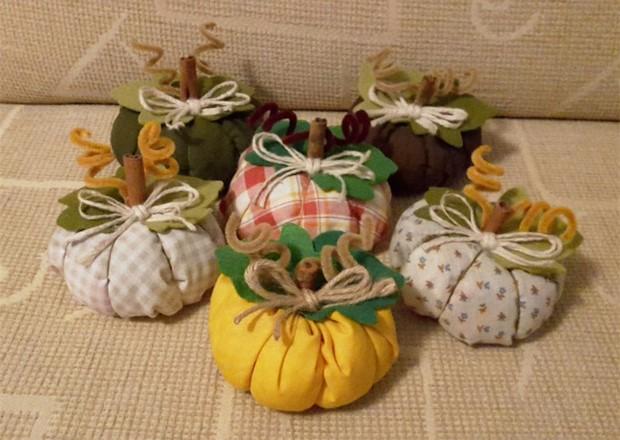 stuffed fabric pumpkin pipe cleaners felt leaves