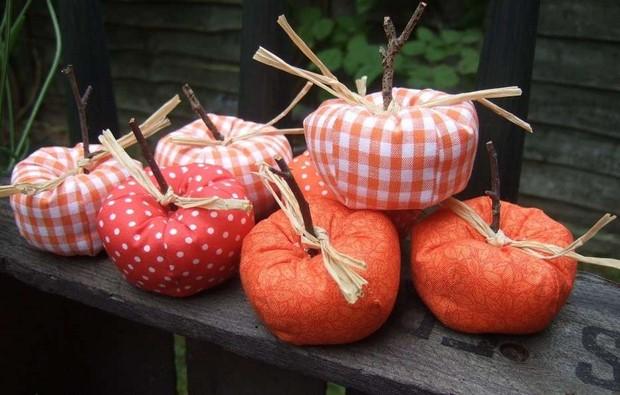 stuffed-fabric-pumpkin-raffia-ribbons-orange-patterns