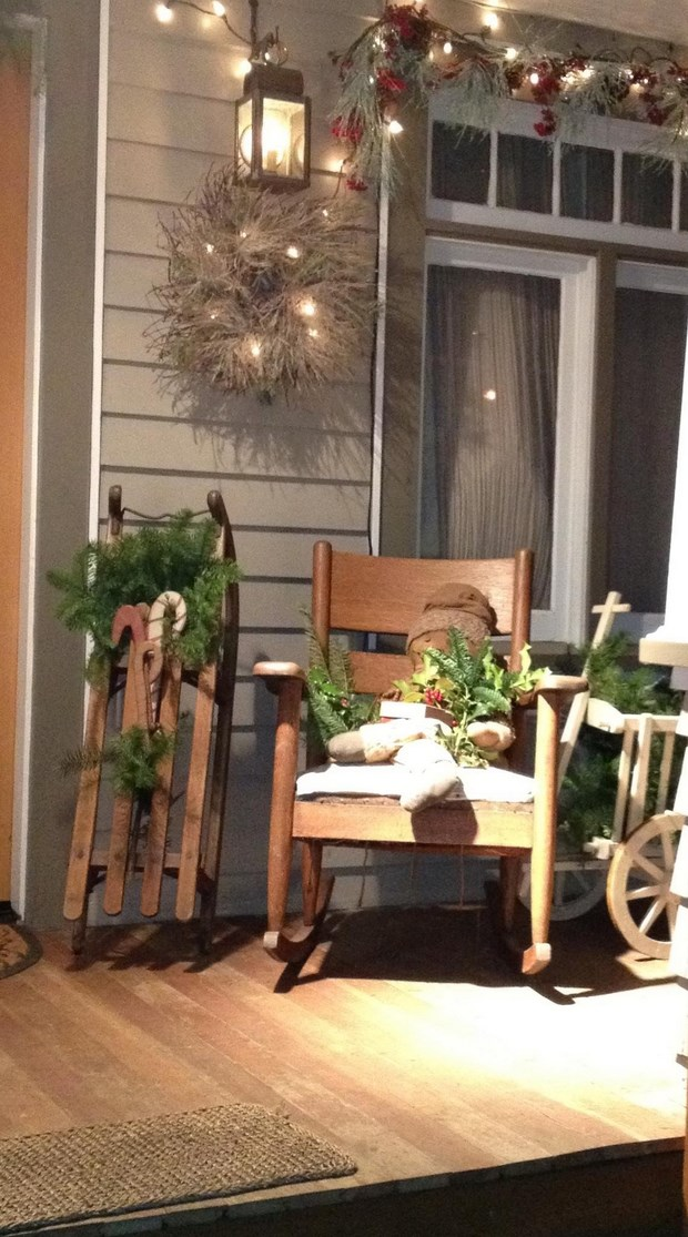 christmas sleds front door chair decor amazing ideas