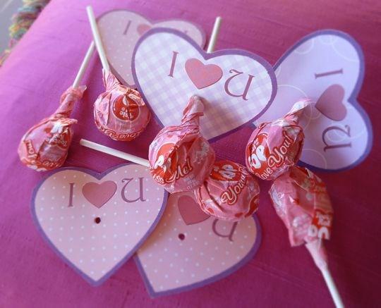 valentines crafts cards lollipops paper hearts kids presents