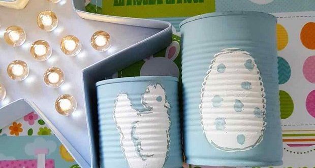 Easter Crafts Made Of Reused Tin Cans And Glass Jars