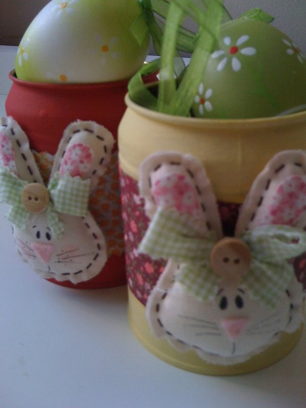 easter crafts tin cans bunny egg kids decoration