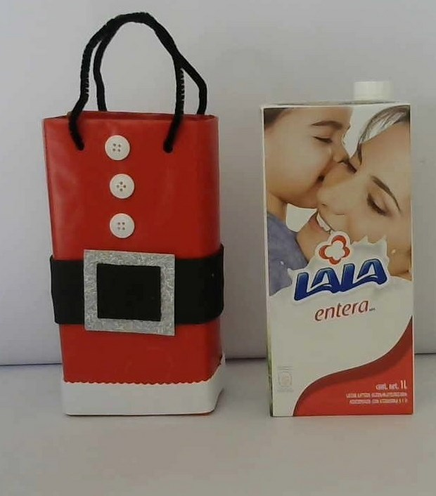 recycle milk cartons christmas gift box repurposed amazing idea