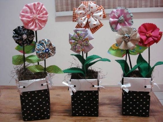 recycle milk cartons diy flower pots table centerpiece decoration