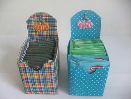 recycle milk cartons tea boxes easy diy craft cute decoration