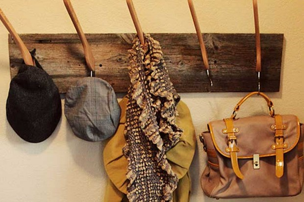 reuse clothes hangers wall hats repurpose creative idea