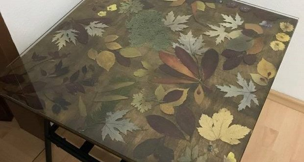 autumn coffee table how to preserve flowers and leaves