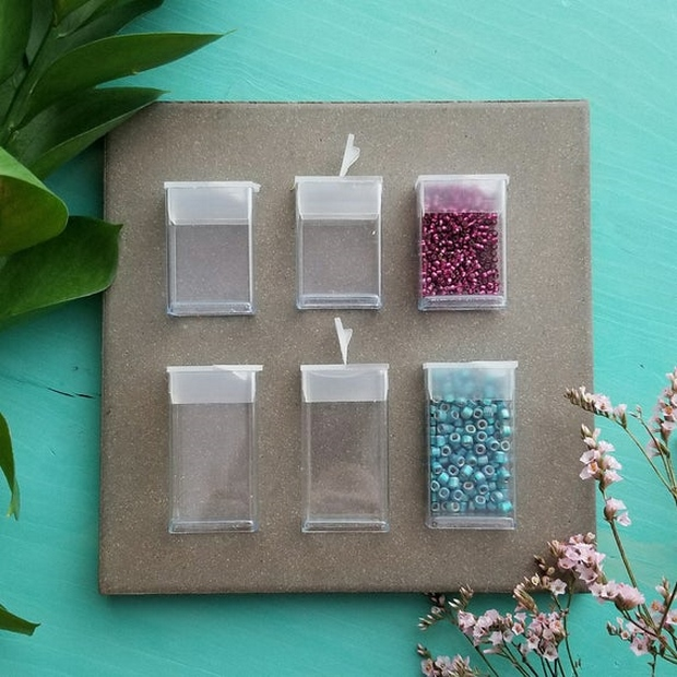 uses for empty tic tac containers organizing beads and pearls