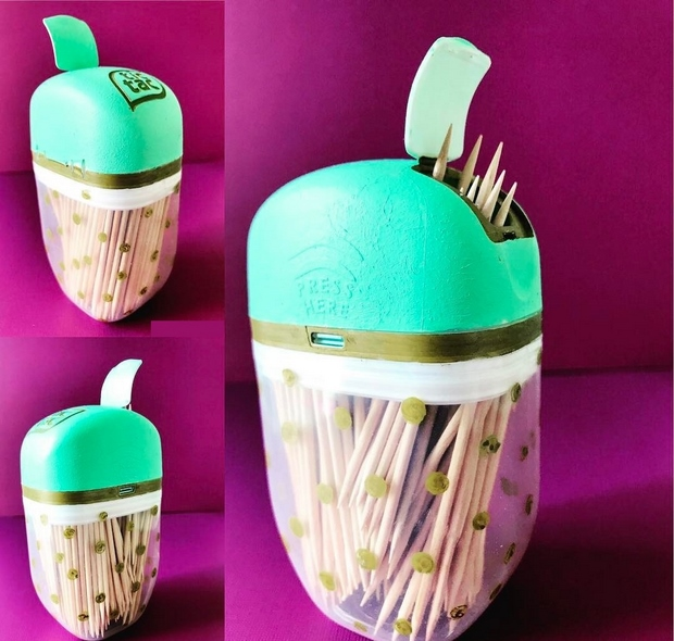 uses for large tic tac containers toothpicks