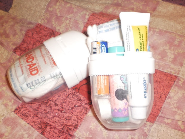 uses for large tic tac containers traveling first aid kit